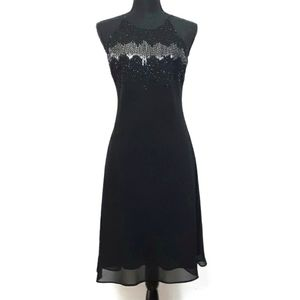 Cachet Beads Sequins Halter Cocktail Party Dress 6